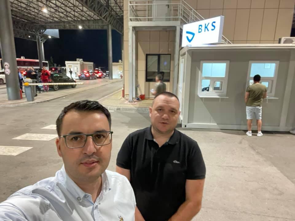 Drejtori i Byrosë Kosovare të Sigurimit (BKS) Sami Mazreku ka vizituar pikën kufitare në Merdare